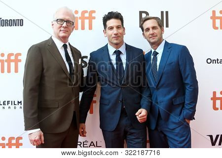 TORONTO -SEPT 9: (L-R) Tracy Letts, Jon Bernthal and Josh Lucas attend the