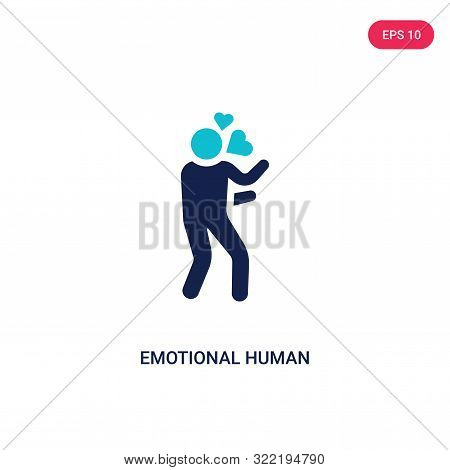 emotional human icon in two color design style.