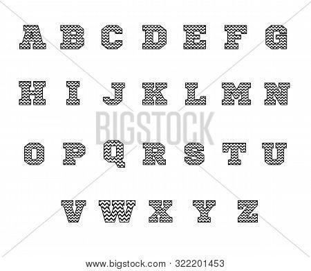 Chevron Font Icon On White Background. Flat Style. Chevron Alphabet Icon For Your Web Site Design, L