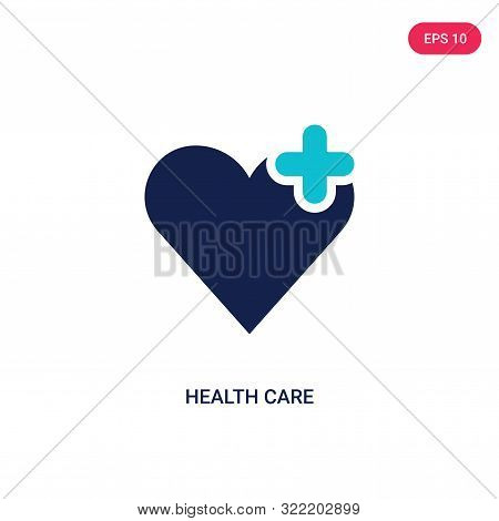 health care icon in two color design style.