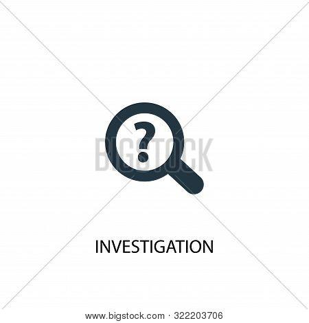 Investigation Icon. Simple Element Illustration. Investigation Concept Symbol Design. Can Be Used Fo