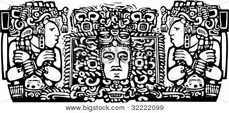 Maya Triptych Woodblock A