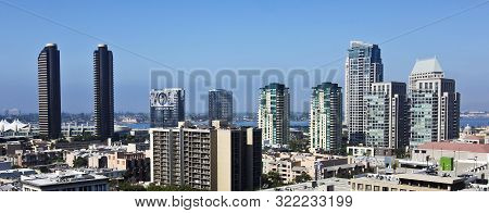 San Diego, California, July 14. Downtown San Diego On July 14, 2019, In San Diego, California. An Ae