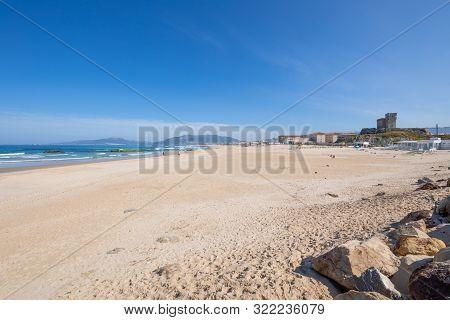 Landscape Of Beach Los Lances In Tarifa Town