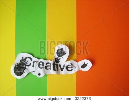 Creative Word Cut From Paper