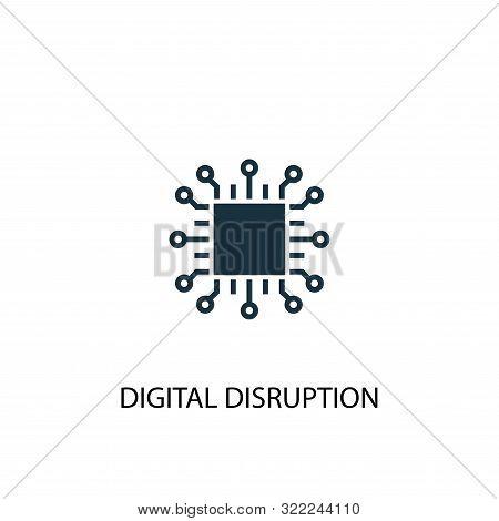Digital Disruption Icon. Simple Element Illustration. Digital Disruption Concept Symbol Design. Can