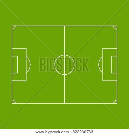 Vector Illustration Of Green Football Pitch. Football Field.