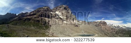 Panoramic View In The Mountains - Landscape In The Mountains -  Monte Cervino - Matterhorn Mountains