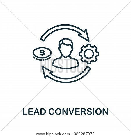 Lead Conversion Outline Icon. Thin Line Concept Element From Crm Icons Collection. Creative Lead Con