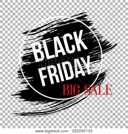 Black Friday Clearance Sale Banner Template. Seasonal Wholesale, Shopping Event Advertising. Limited