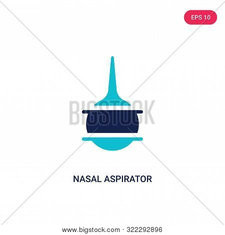 nasal aspirator icon in two color design style.