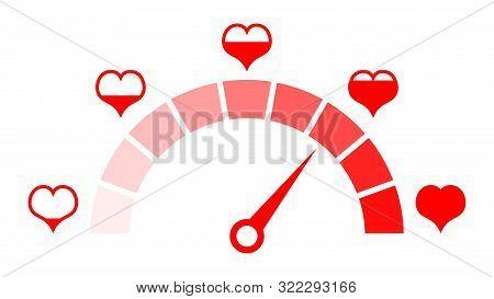 Love Meter Of Valentine's Day. Love Heart Indicator.