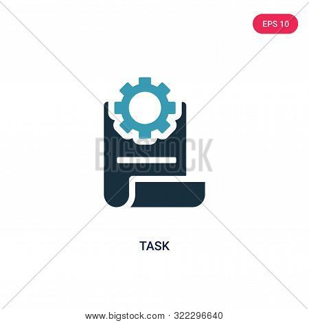 task icon in two color design style.