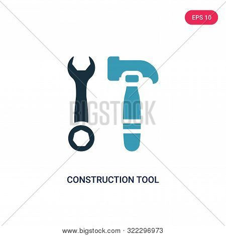 construction tool icon in two color design style.