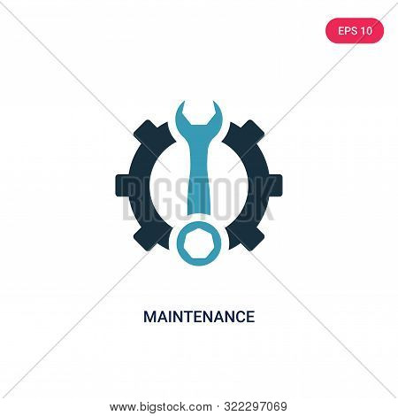 maintenance icon in two color design style.