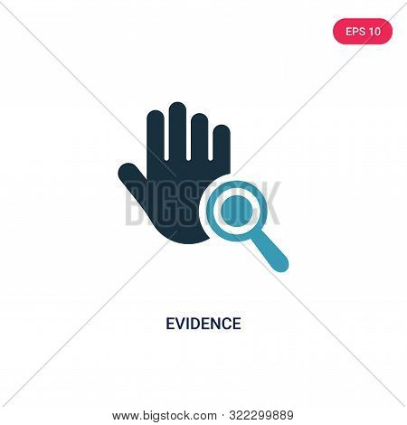 evidence icon in two color design style.