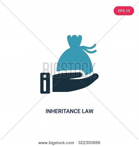 inheritance law icon in two color design style.