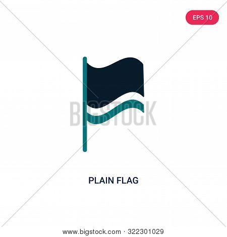 plain flag icon in two color design style.