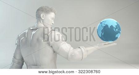 Global Information Technology Startup as a Image 3d Render