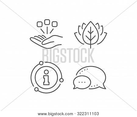 Consolidation Line Icon. Chat Bubble, Info Sign Elements. Business Strategy Sign. Linear Consolidati
