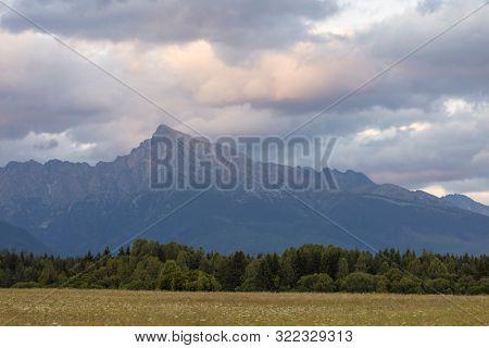 Sunset with Krivan, Hight Tatras, Slovakia poster