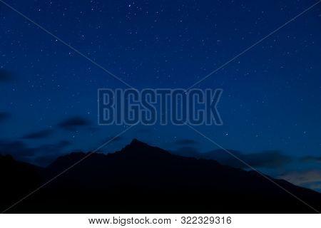 night sky with Krivan, Hight Tatras, Slovakia poster