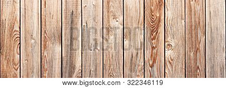 Old Rustic Grange Scratched Wooden Fence Background Closeup View Horizontaly Seamless