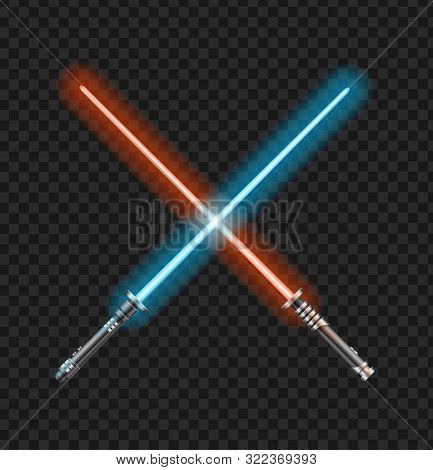 Realistic 3d Detailed Color Jedi Knights Cross On A Transparent Background. Vector Illustration Of T