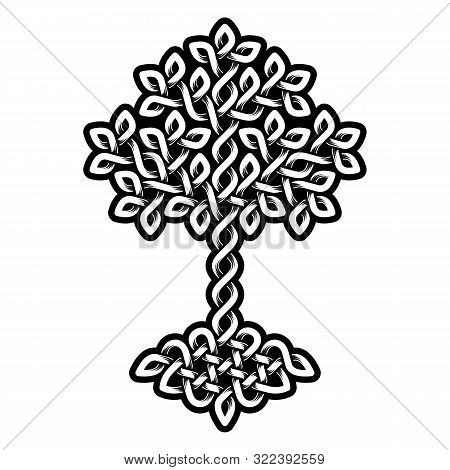 Celtic Tree Of Life, Monochrome Weaved Ornament