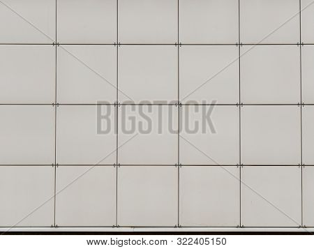 Wall Of Decorative Cladding Metal Panels. Background