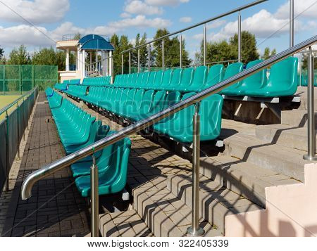 Stands With Seats Of A Small Stadium