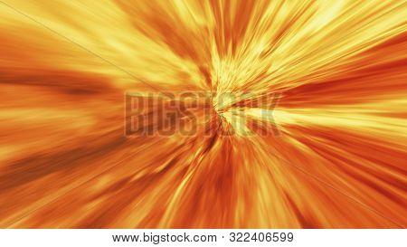 Hot Volcanic Magma Tunnel, Lava Vortex Background