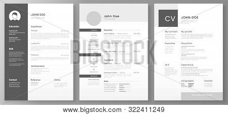 Resume Template. Cv Professional Or Designer Jobs Resumes. Work In Best Corporate. Professional Job
