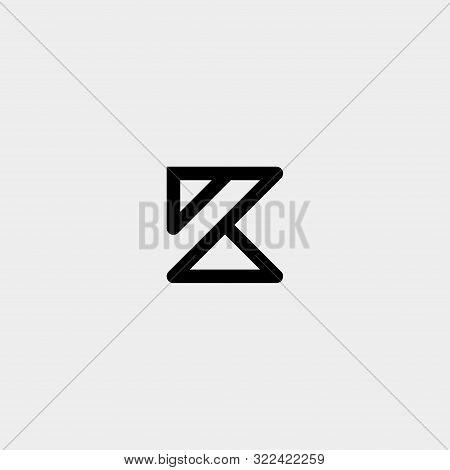 Letter K Ak Ka Z Monogram Logo Design Minimal Icon