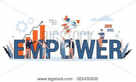 Empower Word Banner Concept. Idea Of Female Empowerement