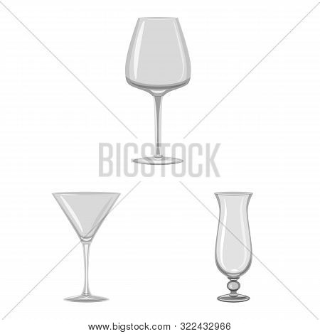Isolated Object Of Capacity And Glassware Icon. Set Of Capacity And Restaurant Vector Icon For Stock