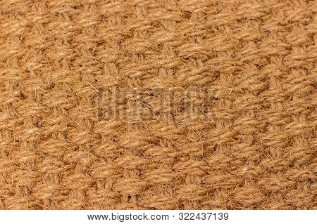 Background Texture Of Natural Material Matting, Cannabis Hemp Fiber. Material Woven From Natural Hem