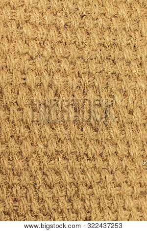 Background Texture Natural Material Braided From Natural Hemp, Fiber From Cannabis. Texture Weaving