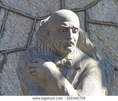 Yalta,crimea-09/15/2019: Monument Alexander Spendiarov (spendiaryan). Pupil Of N. Klenovsky And N. R