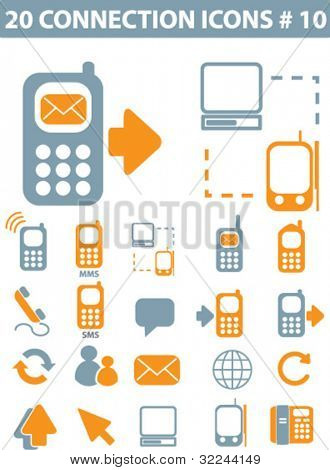 20 connection icons vector set