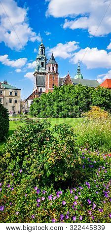 Wawel Castle in Krakow, Poland. In Wawel Cathedral are the royal tombs. poster