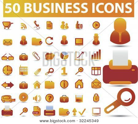 50 business icons.vector