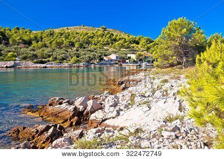 Katina Island Narrow Sea Passage In Kornati Islands National Park, Archipelago Of Dalmatia, Croatia