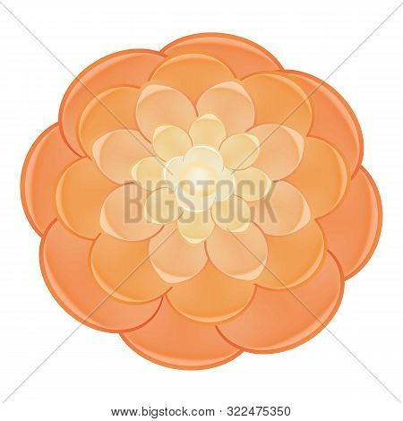 Light Red Camellia Icon. Cartoon Of Light Red Camellia Vector Icon For Web Design Isolated On White