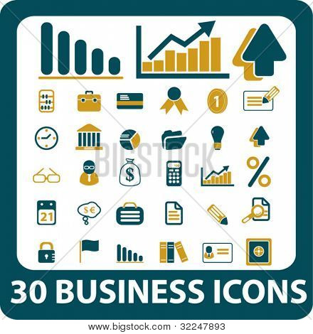 30 business icons. vector