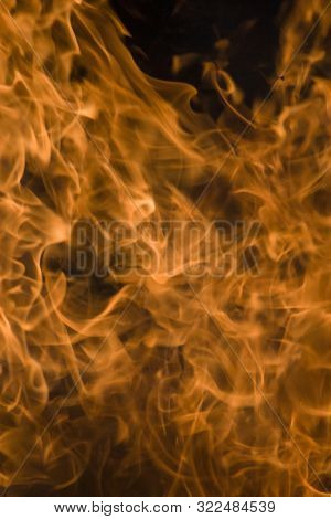 Abstract Flame Of Fire, Flame Of Fire Flame Texture For Banner Background, Conceptual Image Of Burni