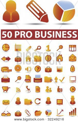 50 pro business signs. vector
