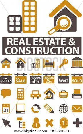 real estate & construction signs. vector
