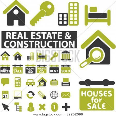 30 real estate signs. vector