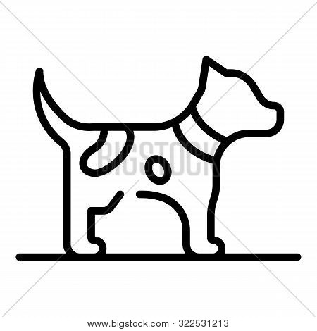 Puppy Dog Icon. Outline Puppy Dog Vector Icon For Web Design Isolated On White Background